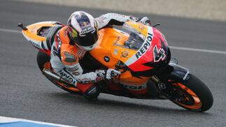 Andrea Dovizioso, compañero de Pedrosa en el equipo Repsol Honda fue quinto.  Foto: Jesús Marín