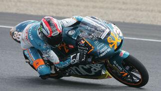 Bradley Smith marcó el mejor tiempo en los entrenos de la categoría de 125 cc.  Foto: Jesús Marín