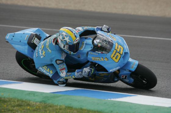 Loris Capirossi a bordo de su Suzuki quedó segundo por detrás de su compatriota Valentino Rossi.  Foto: Jesús Marín