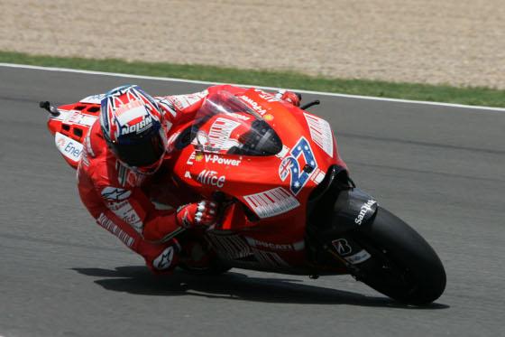 Casey Stoner fue tercero con su Ducati.  Foto: Jesús Marín