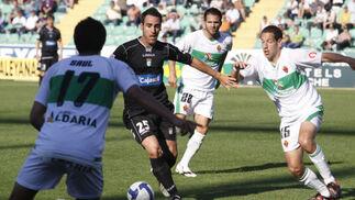 Abel Gómez volvió a ser titular y a cuajar un gran partido.  Foto: L.O.F.