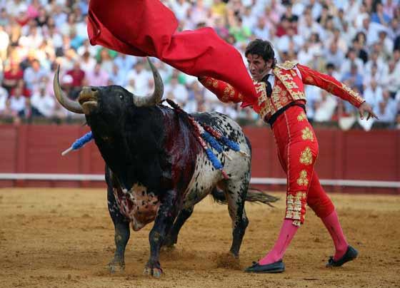 Enorme a la diestra con la muleta Padilla.  Foto: Juan Carlos Muñoz
