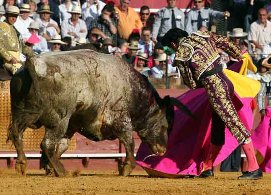 El Fundi, capotazo a dos manos a la diestra.  Foto: Juan Carlos Muñoz