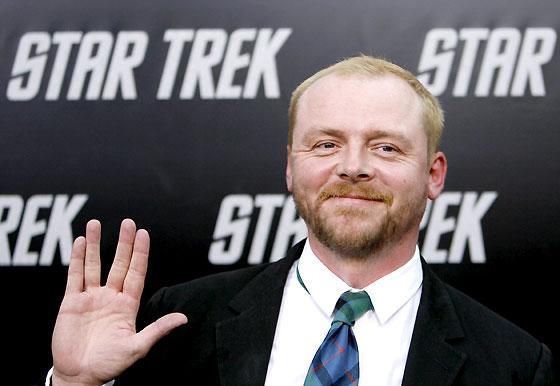 Simon Pegg es el 'nuevo' Scotty, el ingeniero de la nave, al que encarnaba en la tripulación original James Doohan, fallecido en 2005.  Foto: Reuters / AFP Photo / EFE