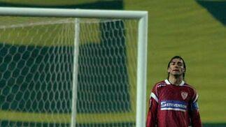 Javi Navarro, durante la disputa de un partido contra el Español de Barcelona.  Foto: ARS