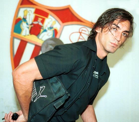 Javi Navarro, tras la disputa de un entrenamiento a puerta cerrada previo a un partido de Liga.            Foto: José Luis Montero