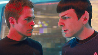 Kirk (Chris Pine) y Spock (Zachary Quinto).  Foto: Paramount Pictures