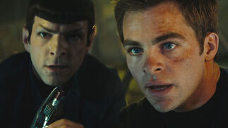 Spock (Zachary Quinto) y Kirk (Chris Pine).  Foto: Paramount Pictures