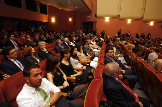 Asistentes de la gala de entrega de premios.  Foto: D.C.
