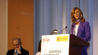 Cristina Garmendia, ministra de Ciencia e Innovación, representó a este organismo que sufraga los galardones.  Foto: D.C.