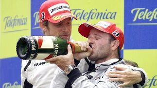 Button y Barrichello.  Foto: Reuters / AFP Photo / EFE