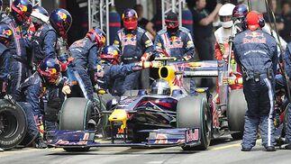Vettel (Red Bull), en 'boxes'.  Foto: Reuters / AFP Photo / EFE
