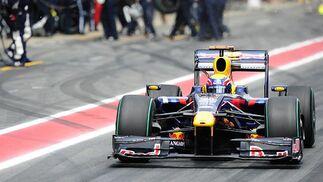 Webber (Red Bull) sale de 'boxes'.  Foto: Reuters / AFP Photo / EFE