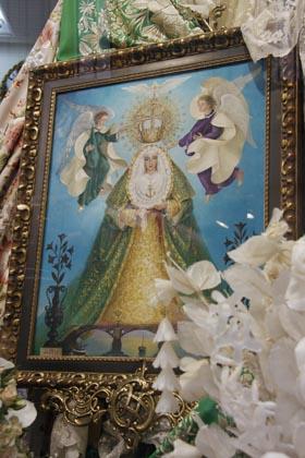 Pintura de la coronación.  Foto: Victoria Hildago