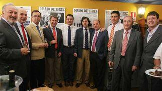 José María López (Añada Motor), Sebastián Suárez (Jerez Motor), Sandro Calvo Antonio, Eustaquio Vargas , Rafael Barba, José Mª Jurado (Honda) y Paco García (Finanzia).  Foto: Vanessa Lobo