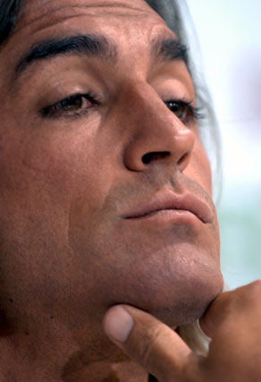 El capitán sevillista se mostró nervioso en todo momento.  Foto: Manuel Gómez
