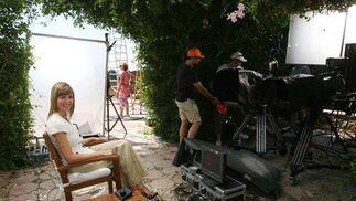 Pilar Galán se hace con el que será el plató por un día de los informativos de Antena 3. FOTO:Javier Albiñana