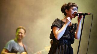 Nena Daconte durante el concierto en el Auditorio Municipal de Málaga.