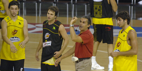 La selección española de baloncesto, en Sevilla