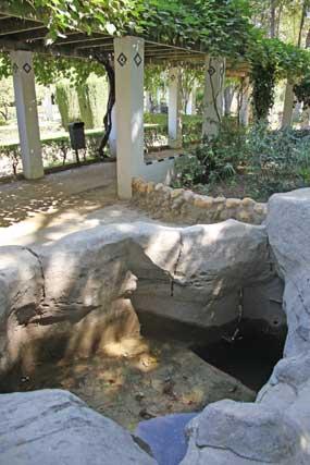 Deterioros en una fuente del parque.  Foto: B.Vargas