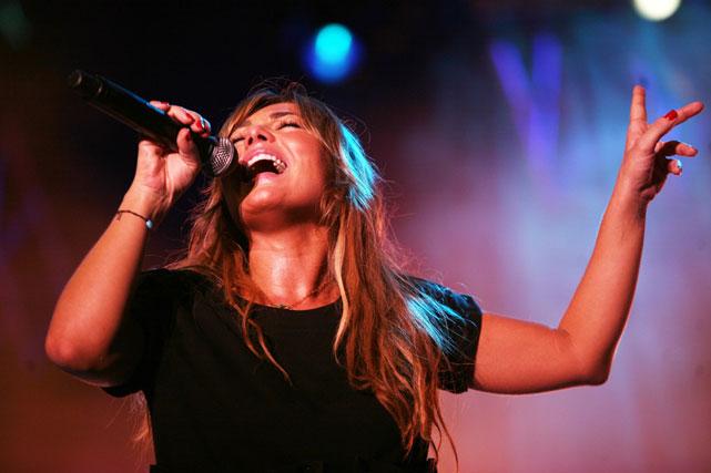 Amaia Montero canta a Málaga en el Auditorio Municipal del Cortijo de Torres. FOTO: Punto Press