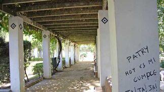 Pintadas personalizadas en forma de mensajes cubren algunas columnas.  Foto: B.Vargas