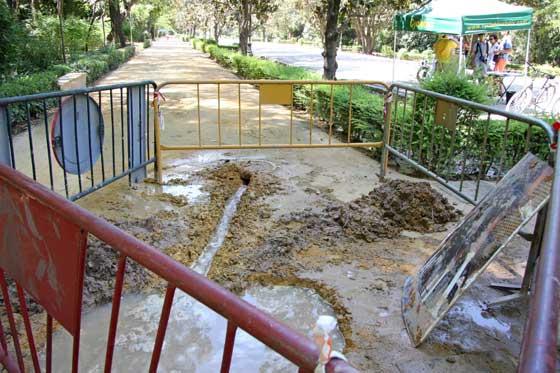 Otras vallas protegen una zona humeda en el alvero del parque.  Foto: B.Vargas