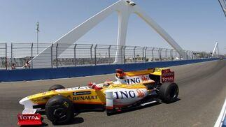 Alonso durante la carrera, en la que ha quedado sexto