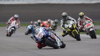 Jorge Lorenzo, durante el Gran Premio de MotoGP