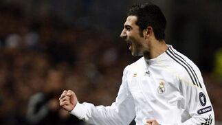 Albiol celebra el segundo gol madridista. / Reuters