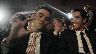Contador y Sánchez conversan animadamente durante el acto.  Foto: Agencias