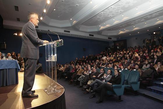 El presidente de la Junta de Andalucía, José Antonio Griñán, en un momento del acto.  Foto: Juan Carlos Muñoz