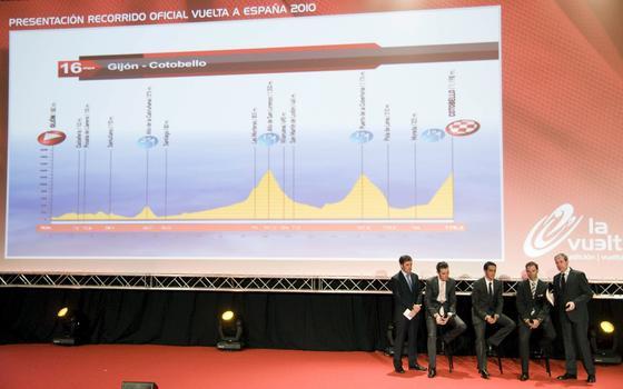 Presentación de lo que será parte del recorrido oficial de La Vuelta'10.  Foto: Agencias
