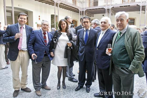 Enrique García Maiquez, José Ramón del Río, Ana María del Valle, Rafael Navas, Antonio Morillo y Joaquín Fernández López-Covarrubias.  Foto: Julio Gonzalez-Joaquin Pino-Jose Braza