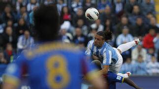 El equipo de Pellegrini vence al Levante por la mínima gracias a un gol de Rondón tras dominar el partido en todo momento.   Foto: Sergio Camacho