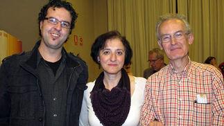 Jesús Cárdenas (IES San Fernando, Constantina), Pilar Ortega (IES Sacilis, de Pedro Abad, Córdoba) y Javier Santacruz (IES V Centenario, Sevilla).  Foto: Victoria Ramírez