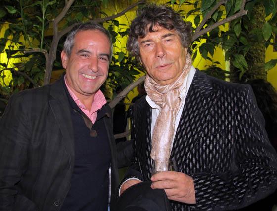 Los periodistas José Antonio Naranjo y Jesús Quintero.  Foto: Victoria Ramírez