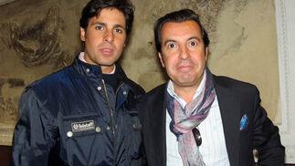 El torero Francisco Rivera Ordóñez, con Manolo Vázquez.  Foto: Victoria Ramírez