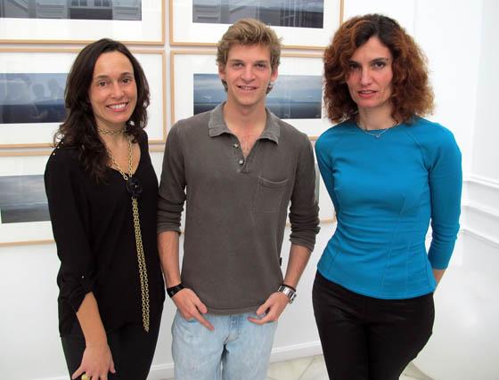 Blanca Jiménez, Carlos Albarracín y Patricia Higuera, arquitecto del espacio MD8.  Foto: Victoria Ramírez