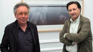 El arquitecto y fotógrafo Roberto Luna, con Ignacio González (Photovision).  Foto: Victoria Ramírez