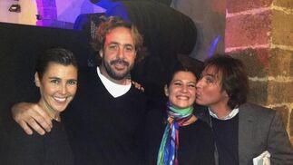 Triqui Baras, Jaime Sánchez Briñas, Sara Baras y José Aguilera.  Foto: Ignacio Casas de Ciria