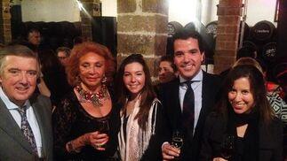 Manuel Valencia, Loli Robledo, Beatriz García, Juan Mateo y Verónica Galán.  Foto: Ignacio Casas de Ciria