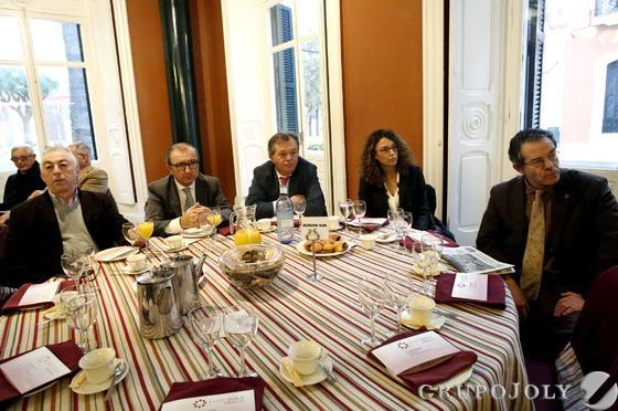 Fernando Sánchez Pérez, Antonio Hernández Bocanegra, Juan María Galardi, Consuelo Pérez de Ayala y Rafael Domínguez Guillén.  Foto: Alberto Domínguez.