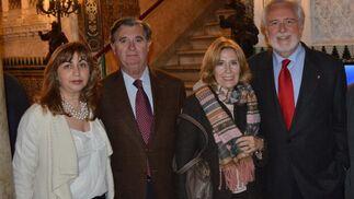 Anamaría Fimia, José María García León, Alicia Castellanos y Enrique Montiel.  Foto: Ignacio Casas de Ciria