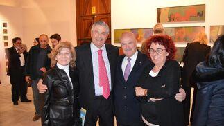 Pilar de la Haza, Pedro Mellizo-Soto, Carlos Corrales y Carmen Montes durante la inauguración de la exposición.  Foto: Ignacio Casas de Ciria
