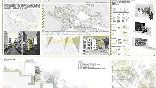 Imágenes de los proyectos Colonocity y Un camino para la historia, ganadores del concurso de ideas Huelva Apunta.