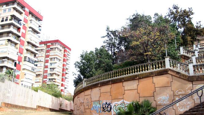 Masa arbórea en uno de los laterales del Parque Alonso Sánchez.