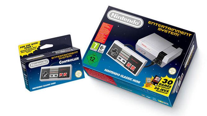 La Classic Mini: NES también juega a la nostalgia con su envoltorio.