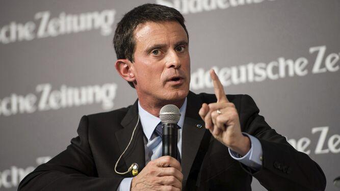 El primer ministro francés, Manuel Valls, ayer en un foro económico en Berlín.