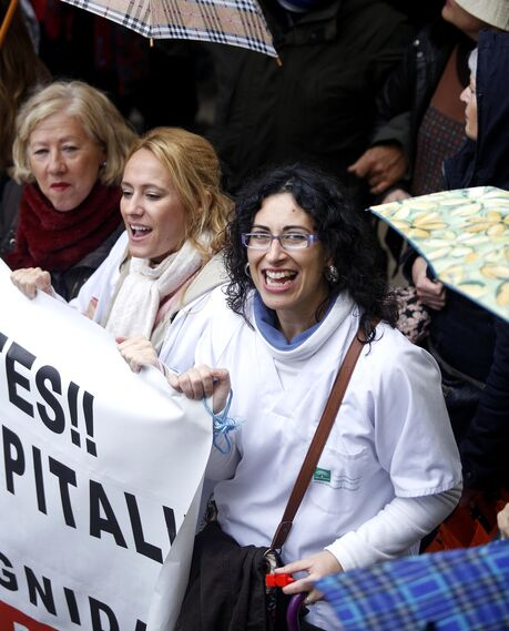 Marcha de Málaga para exigir mejoras en la sanidad pública